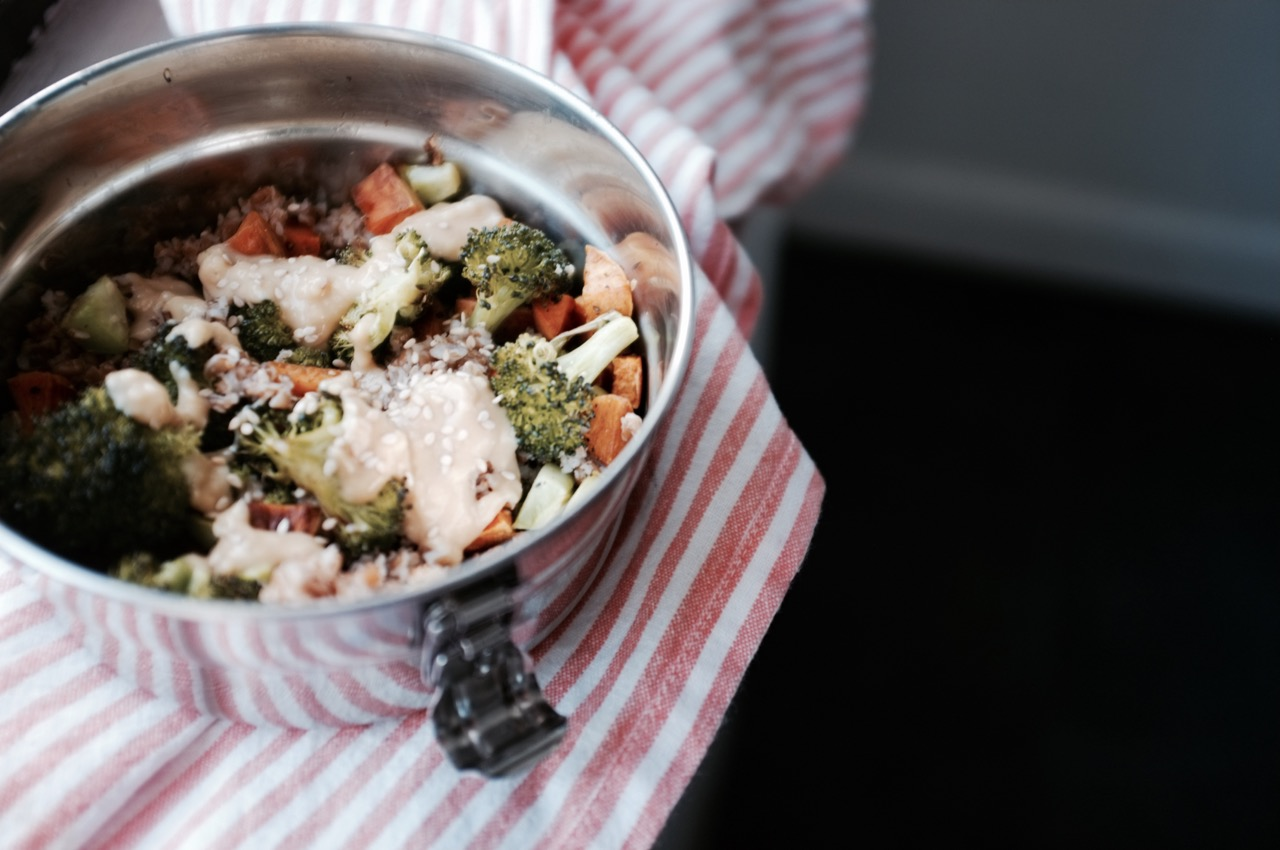 Vegan Broccoli and Bulgur Lunch Bowls - Hill Reeves