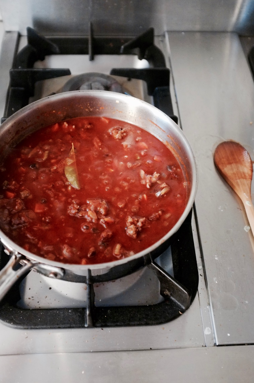 Ruote with Sausage Sauce - Hill Reeves