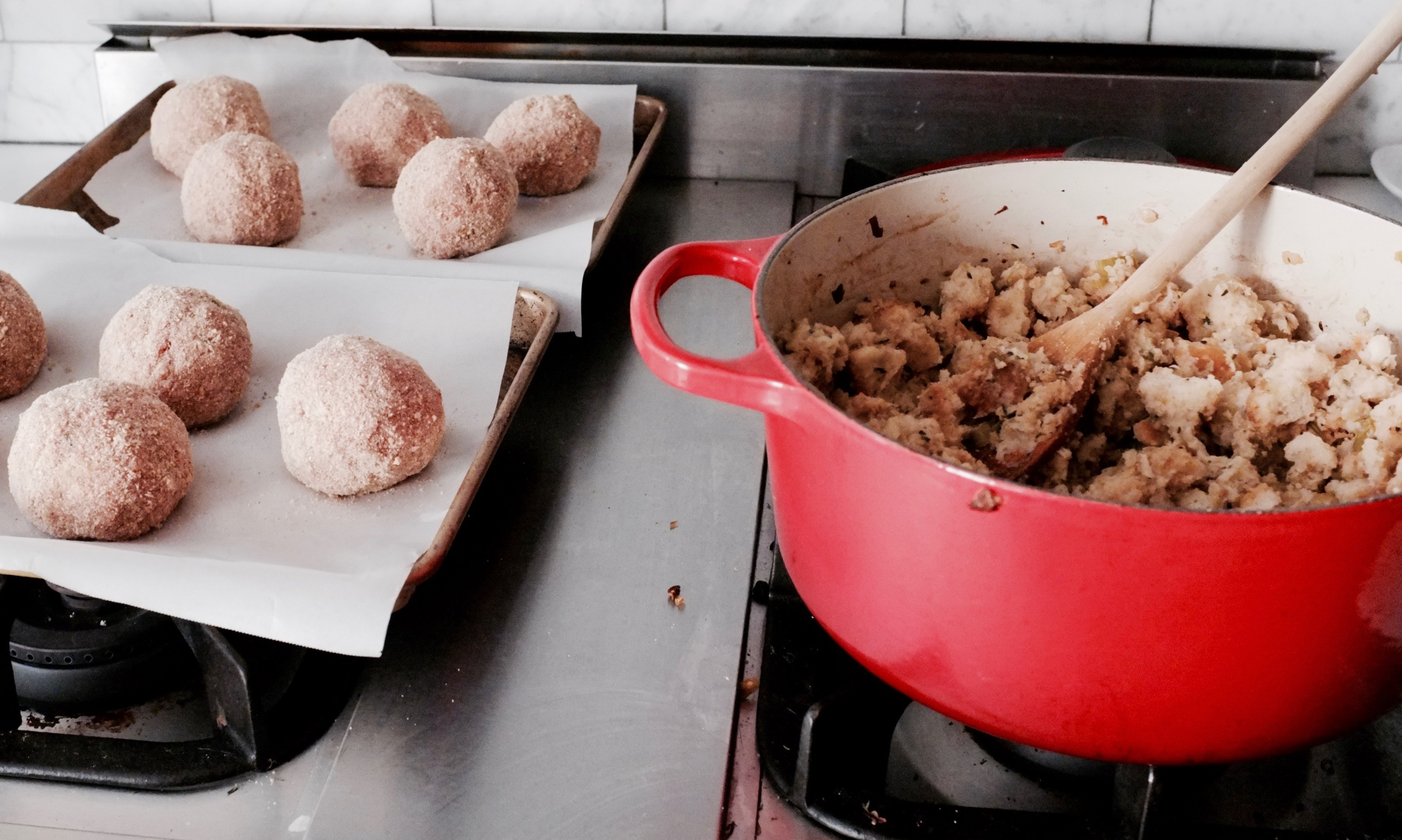 Stuffed Turkey Meatballs with Mushroom Gravy - Hill Reeves