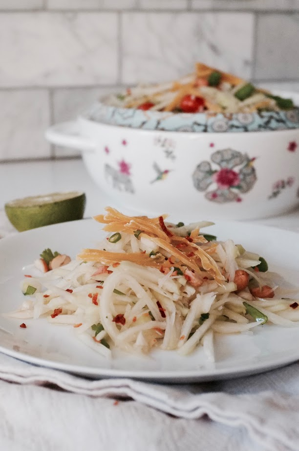 Papaya Salad with Jackfruit for Try The World - Hill Reeves