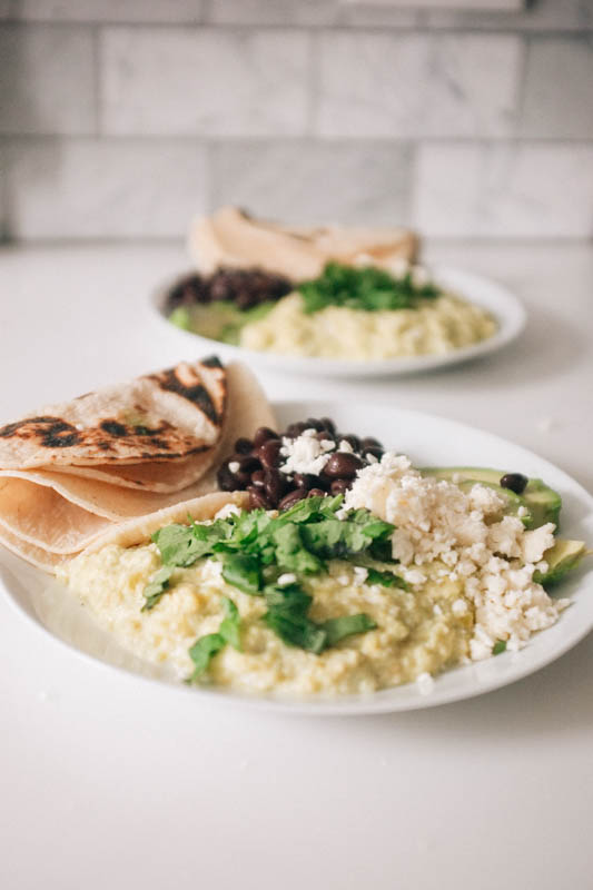 Mexican Tomatillo Scrambled Eggs - Hill Reeves