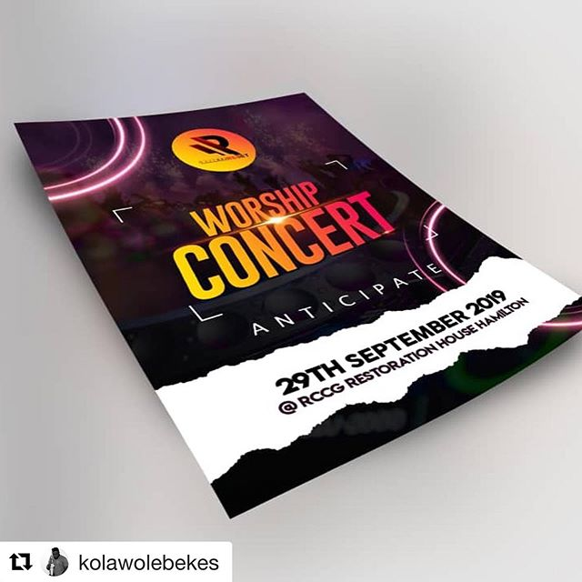 Guess what's happening tomorrow.. I'll be there and I hope to see you!! #Repost @kolawolebekes with @get_repost ・・・ #FACTORYRESET  Joy fills my heart as my first musical concert and live recording is unveiled. Come 29th of September 2019. @rccgrhh  More details to come..... #anticipation
