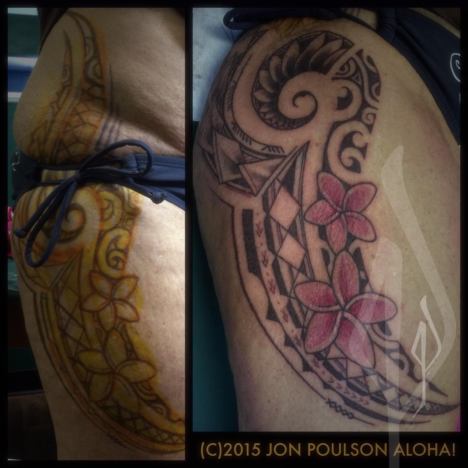 Freehand Polynesian Tribal Tattoo by Jon Poulson - Aloha Salt Lake Tattoos
