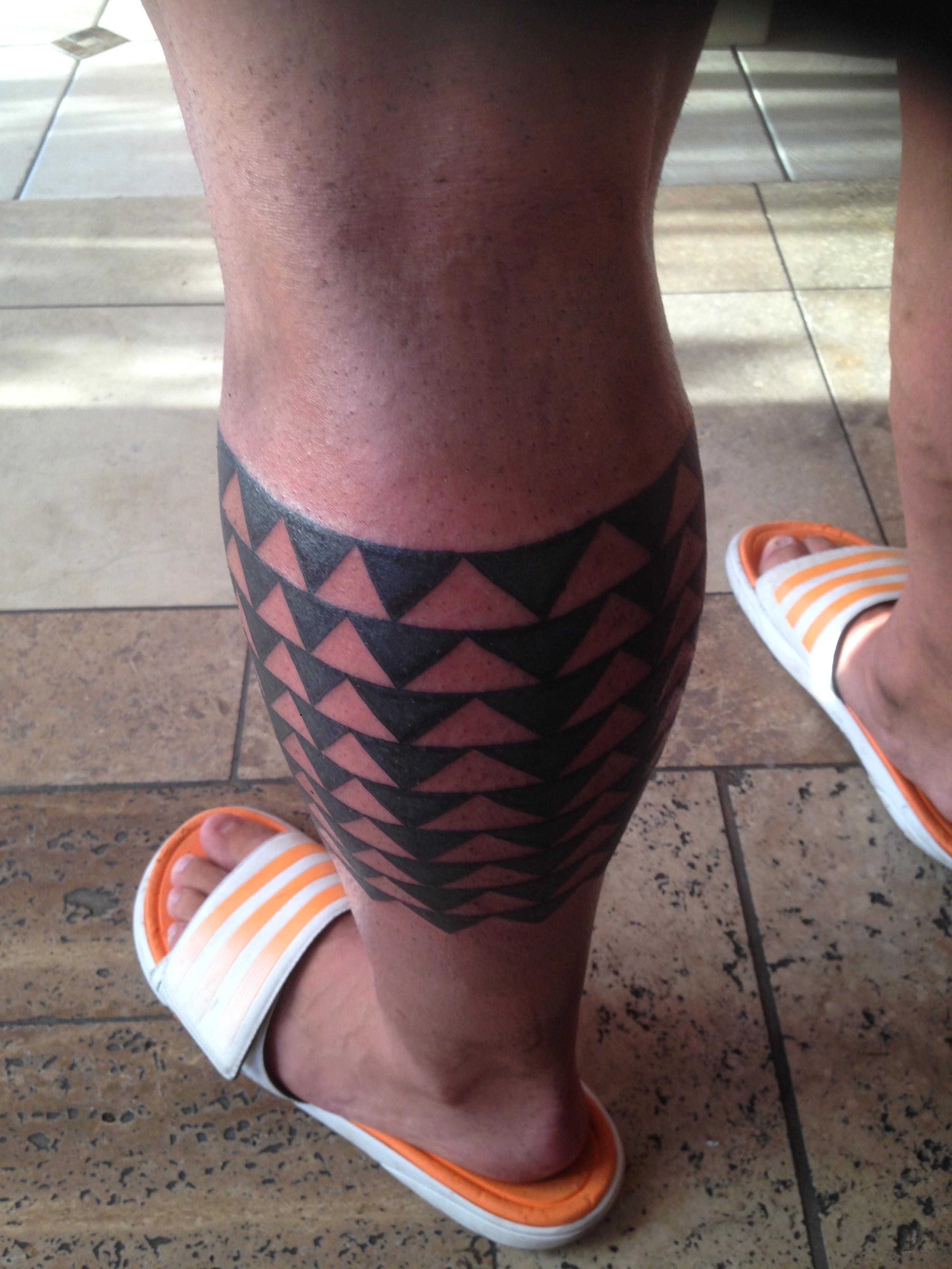 Freehand Polynesian Hawaiian Tattoo by Jon Poulson