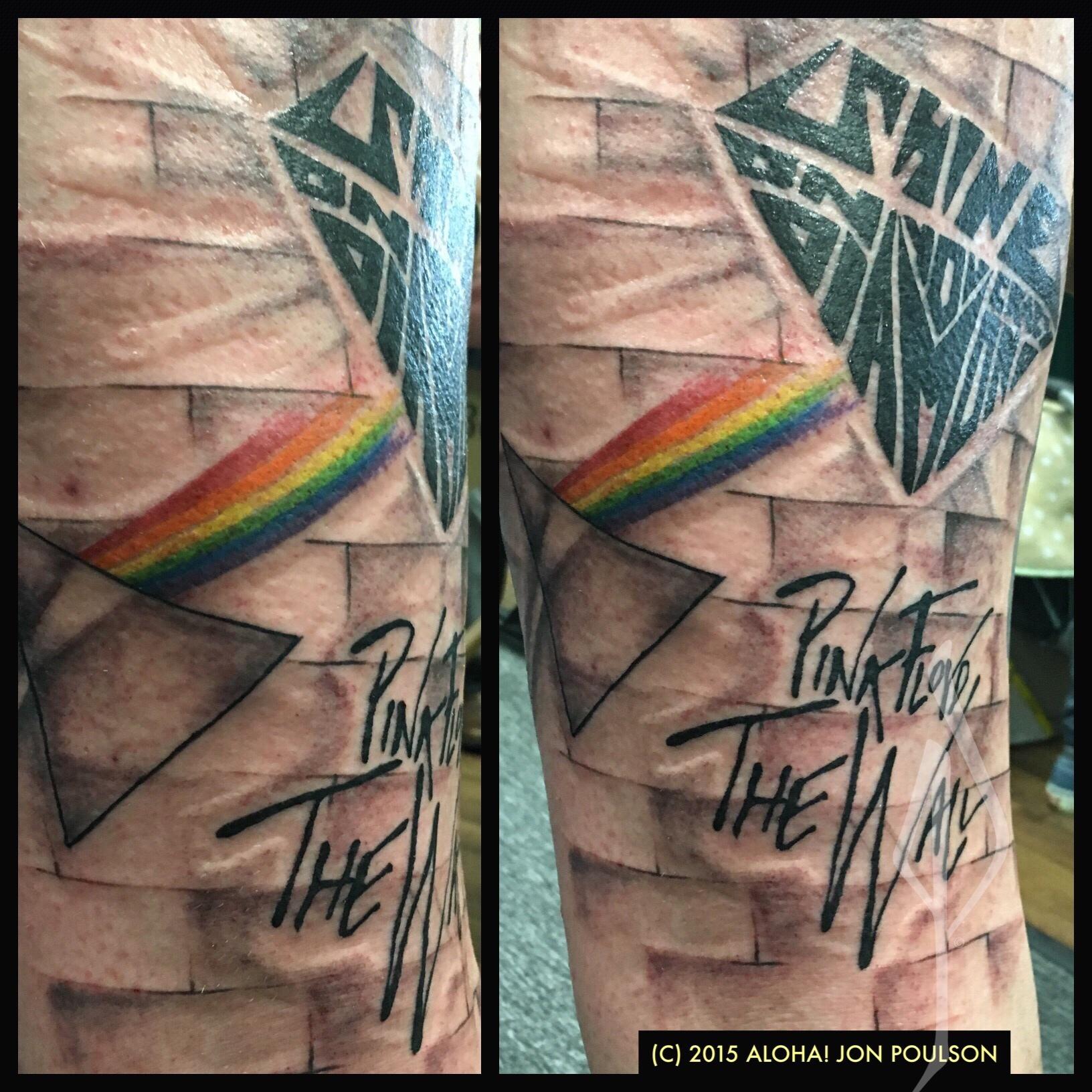 Pink Floyd Tattoo by Jon Poulson - Aloha Salt Lake Tattoos