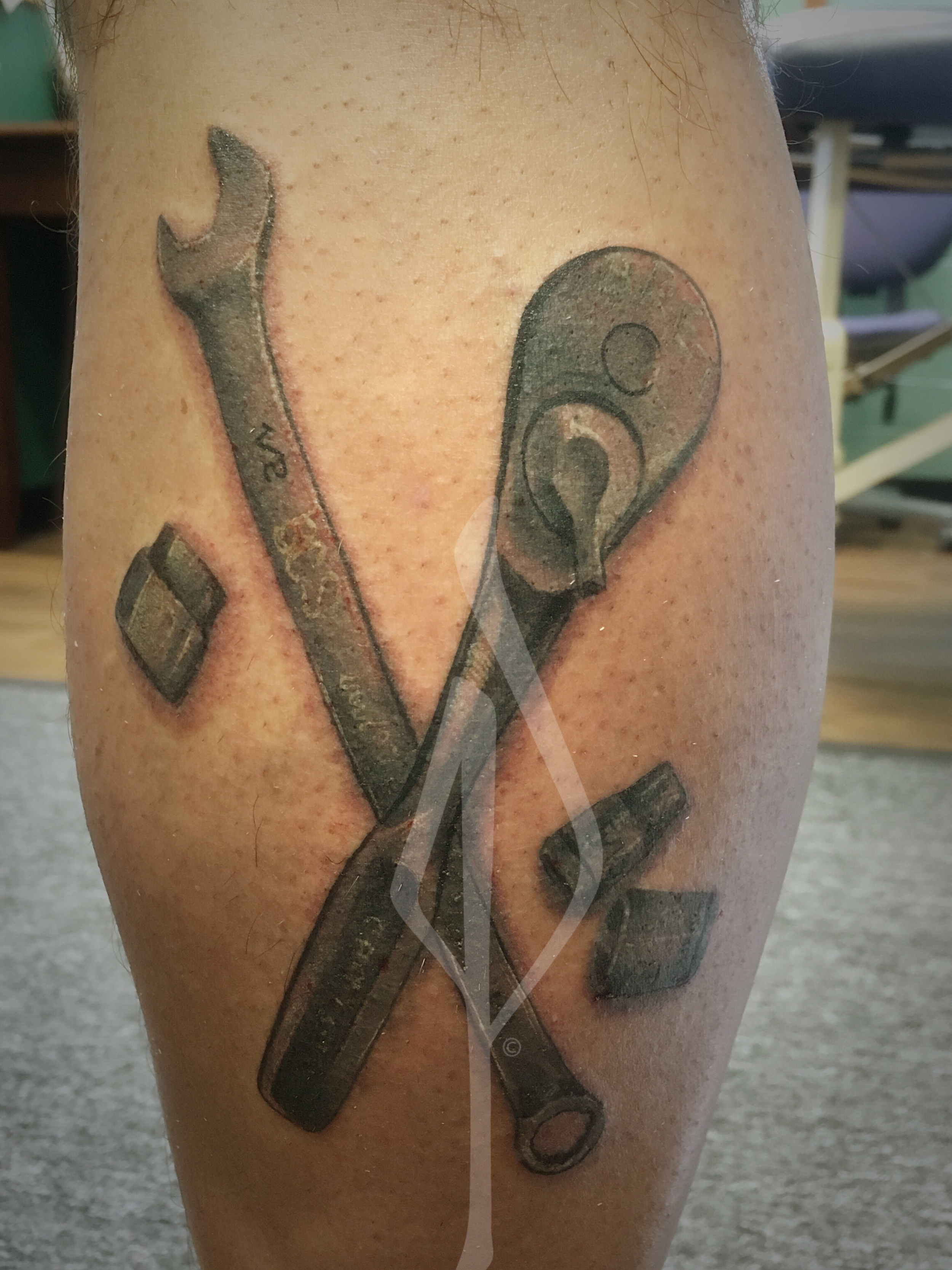 Tools and sockets Tattoo by Jon Poulson - Aloha Salt Lake Tattoos