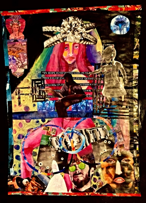 """The Hierophant"" by Lauren Pararo, mixed media"