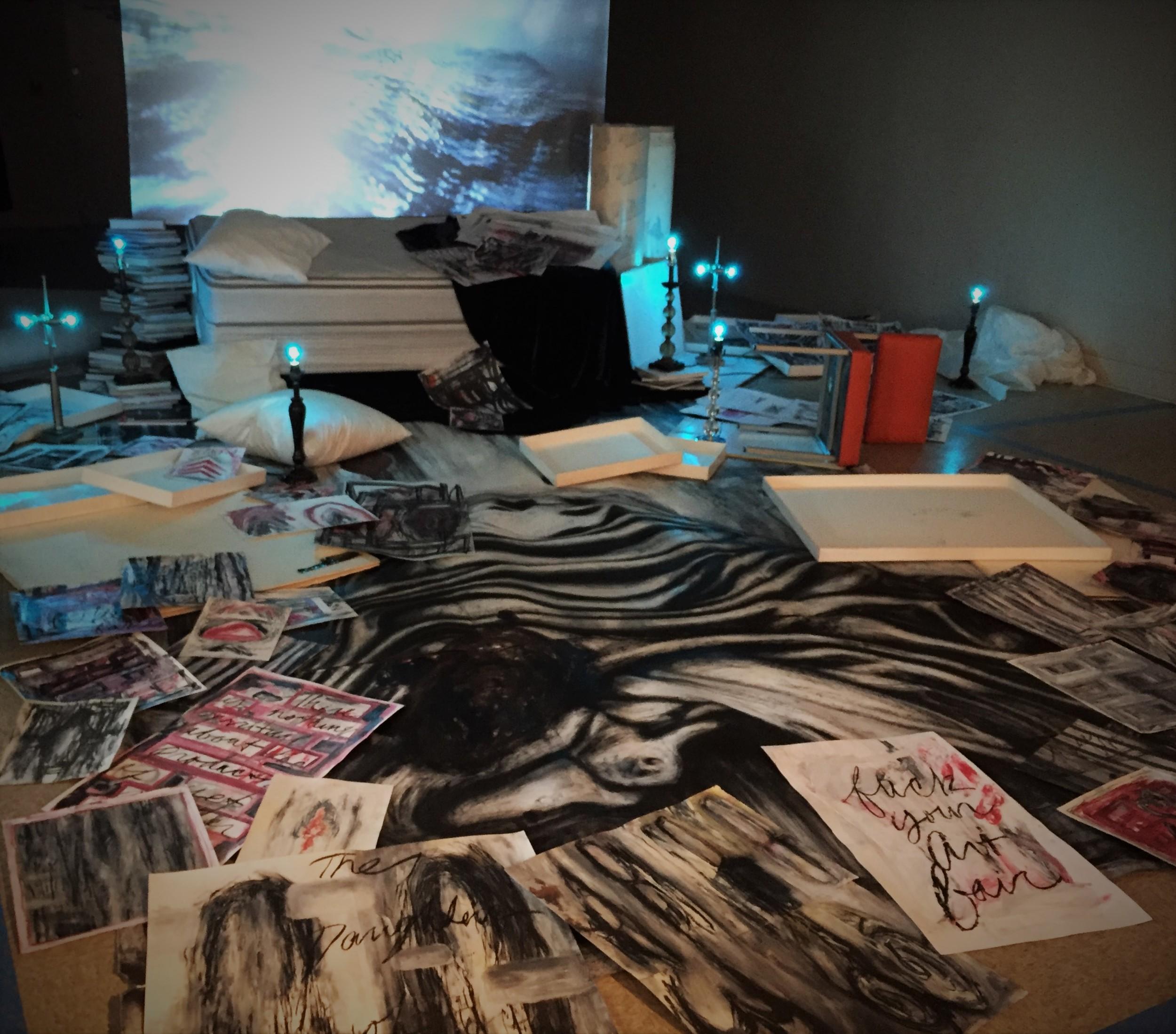 """The Drawing Studio, A Radiohead Blue Edit"", Dan L. Hess"