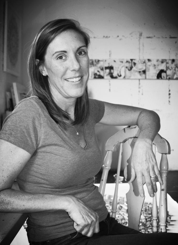 Paula Brett in the studio