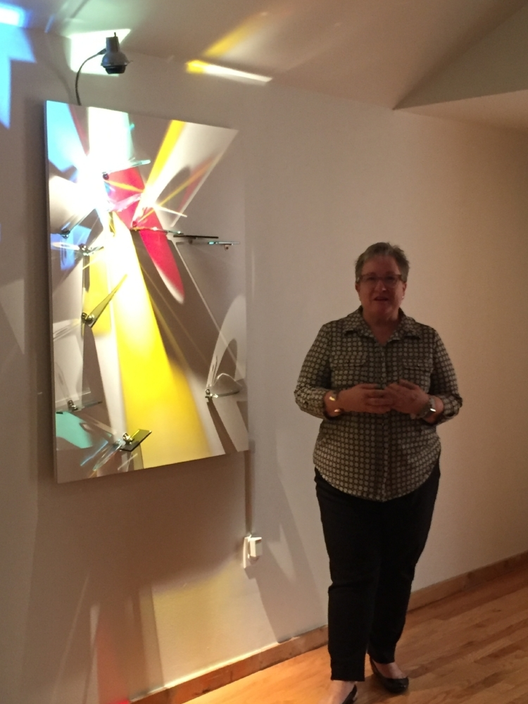 Curator Rebecca Sexton Larson, Maitland Art and History Museum.  Light Painting,  Stephen Knapp