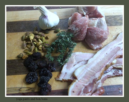 Ingredients for the terrine