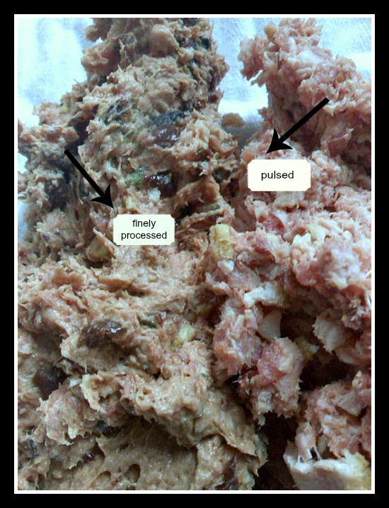 Finely processed vs pulsed meats