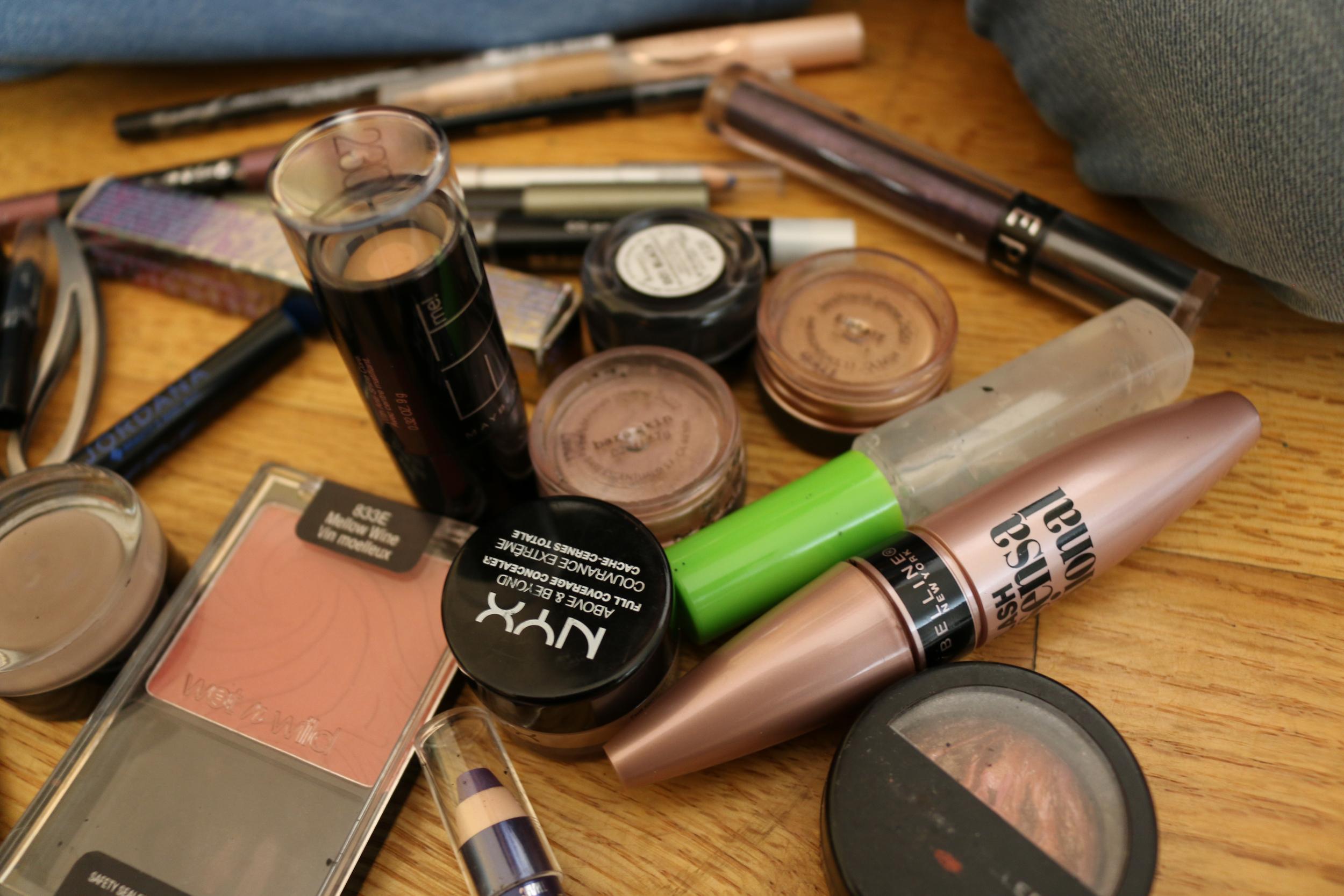 Tatiana's pile of makeup.