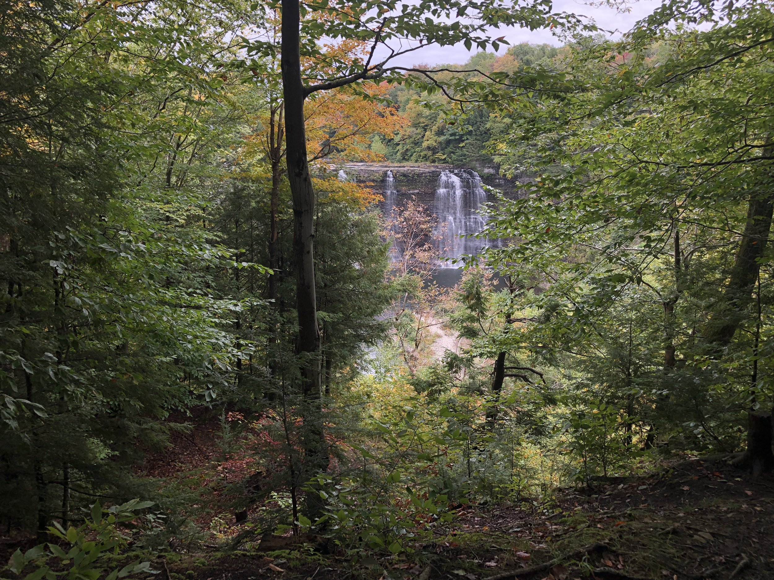 Salmon River Falls—a 110-foot waterfall near the new homestead!