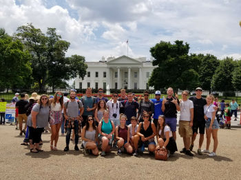Maryland team at White House