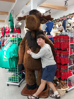 Caleb with a Moose
