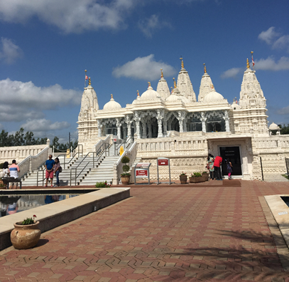 This is the Hindu temple we visited.