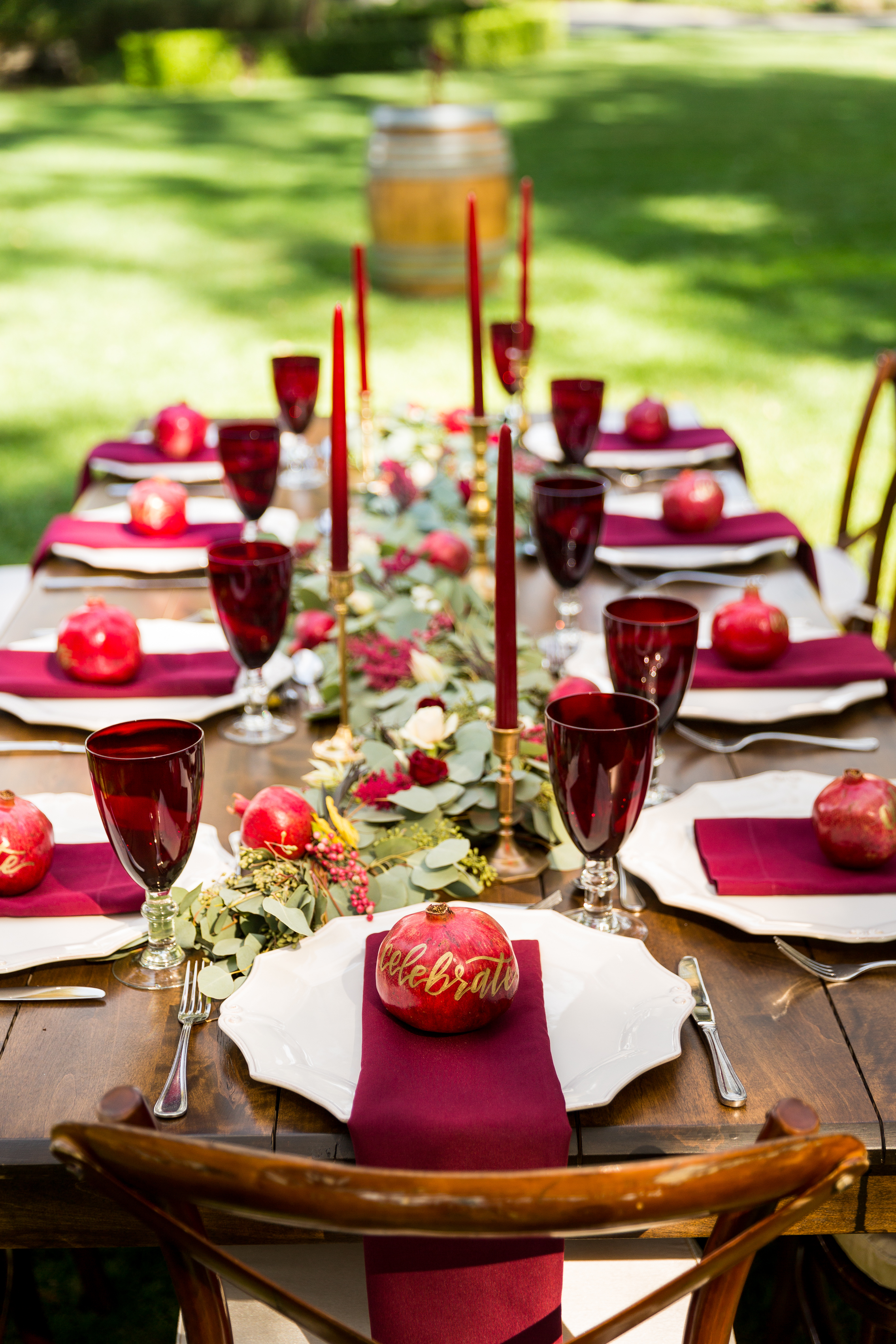 Event Design & Coordination: Simple Little Details Photography: Daniel McElmury Photography  Venue: Allora Vineyards Rentals: Standard Party Rentals Florals: Mack Floral Design Catering: Oak Avenue Catering Desserts: Sweet Tooth Confections Bakery