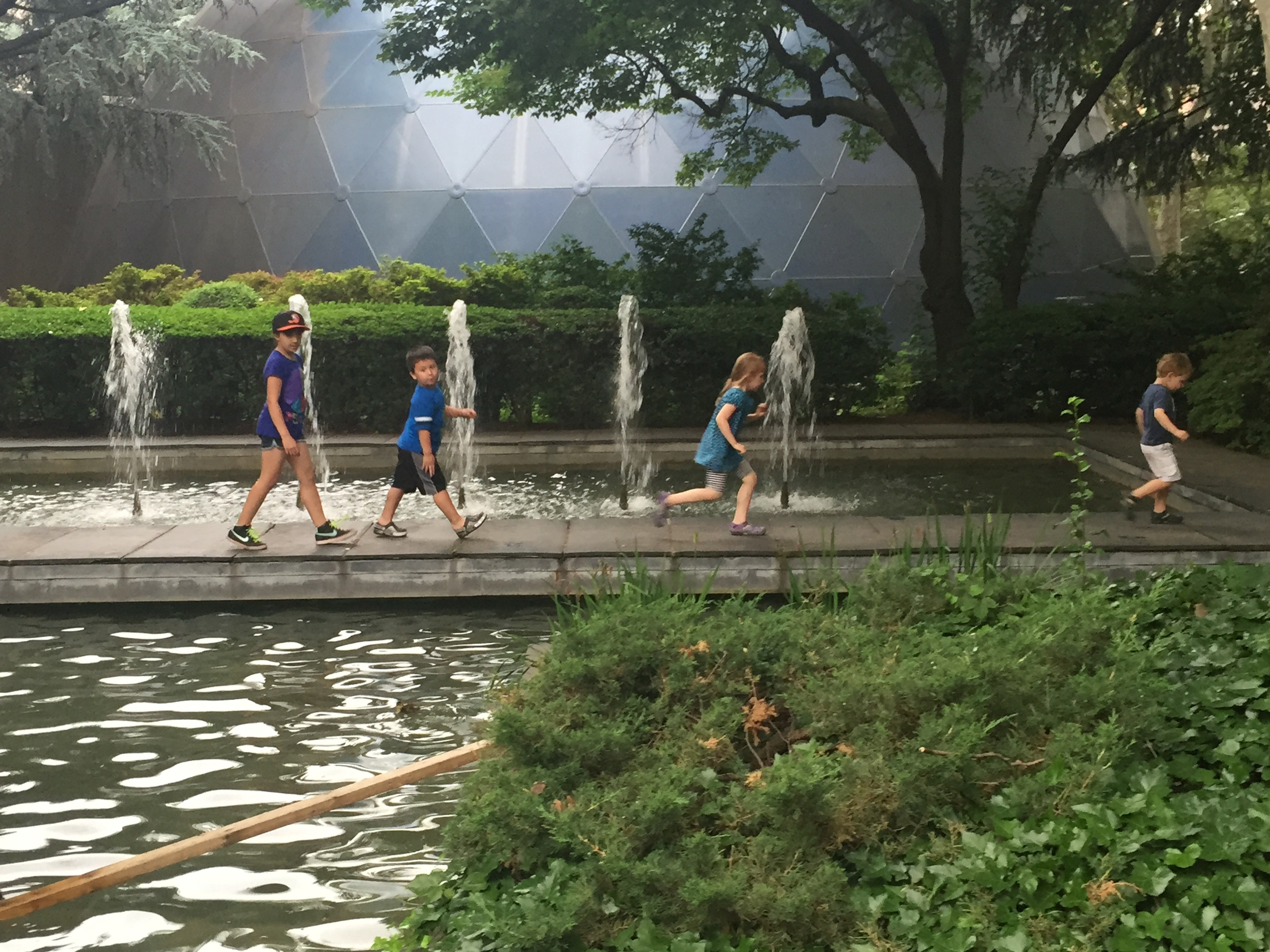 Newest lab members had a great time marching in the Philosopher's garden at the Rockefeller University