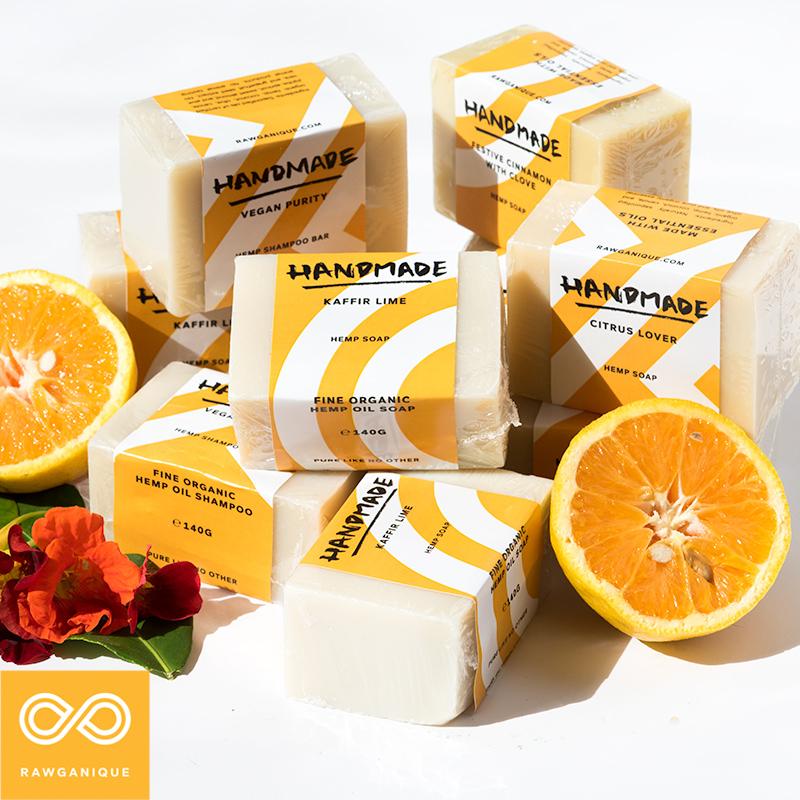 Organic Handmade Hemp Oil Soap Bars