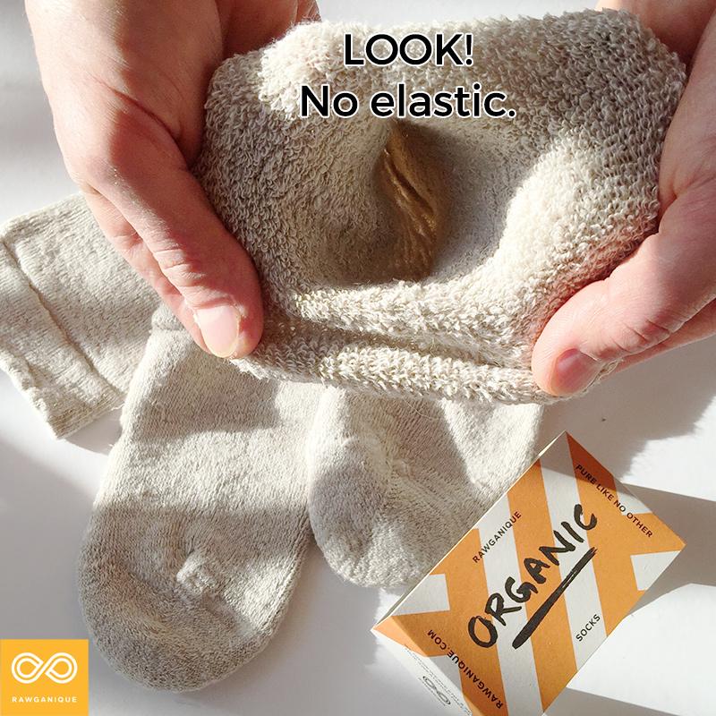 Dvorak elastic-free 100% organic hemp terry socks