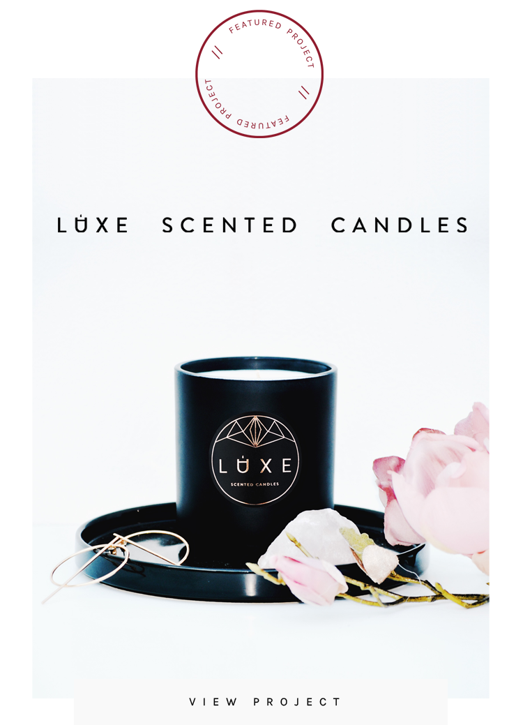 Luxe Scented Candles - Design by Klo