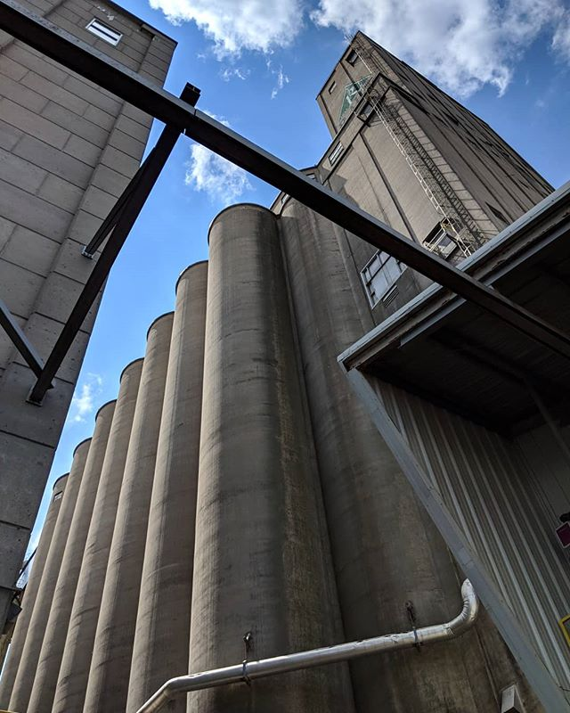 Barley and malt silos at Rahr Malting, Shakopee. @bsgcraft