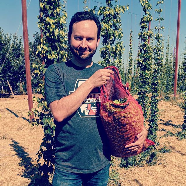 Join me tomorrow to harvest hops at @capracopia farm in Sebastopol. Take a mental health day from work and enjoy the beautiful aroma of the farm and some good ol' manual labor. Message me if you are interested. I'm sure there will be beer drinking involved, and bringing home some fresh hops for your weekend brew.
