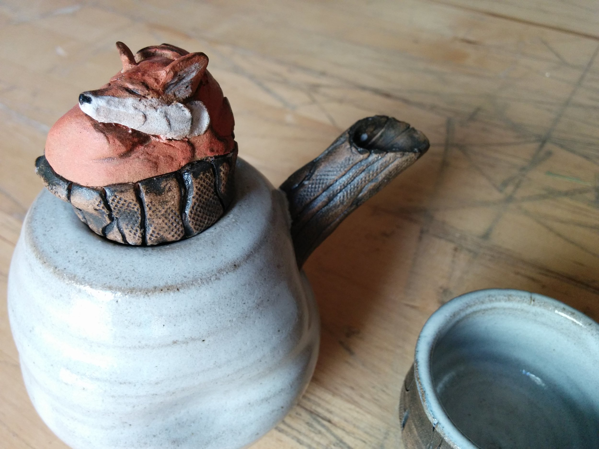Fox Tea Pot