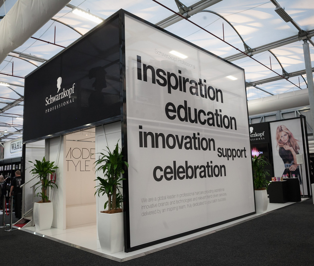FABRIC & FRAME SOLUTION   INNOVATIVE EXHIBIT DESIGN DISPLAYS BY SCHWARZKOPF