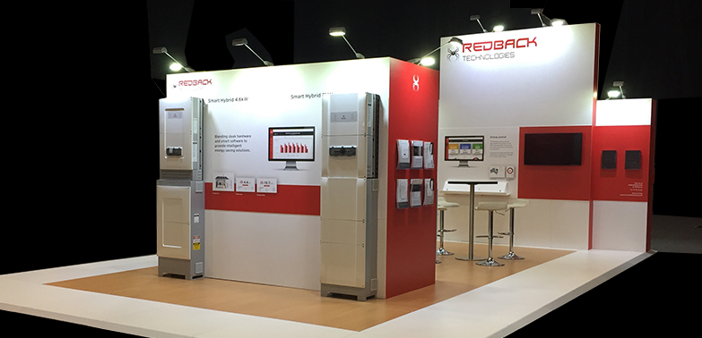 SPOT ON DESIGN DEVELOPMENT & HIGH QUALITY STAND BUILD - REDBACK TECHNOLOGIESMAREE MILLSMARKETING & PR MANAGER