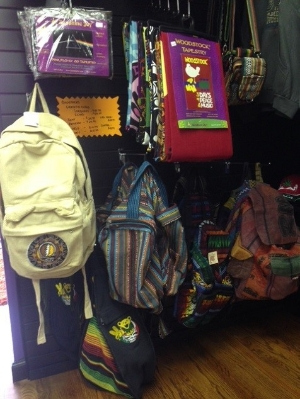 Backpacks for sale at Euphoria.