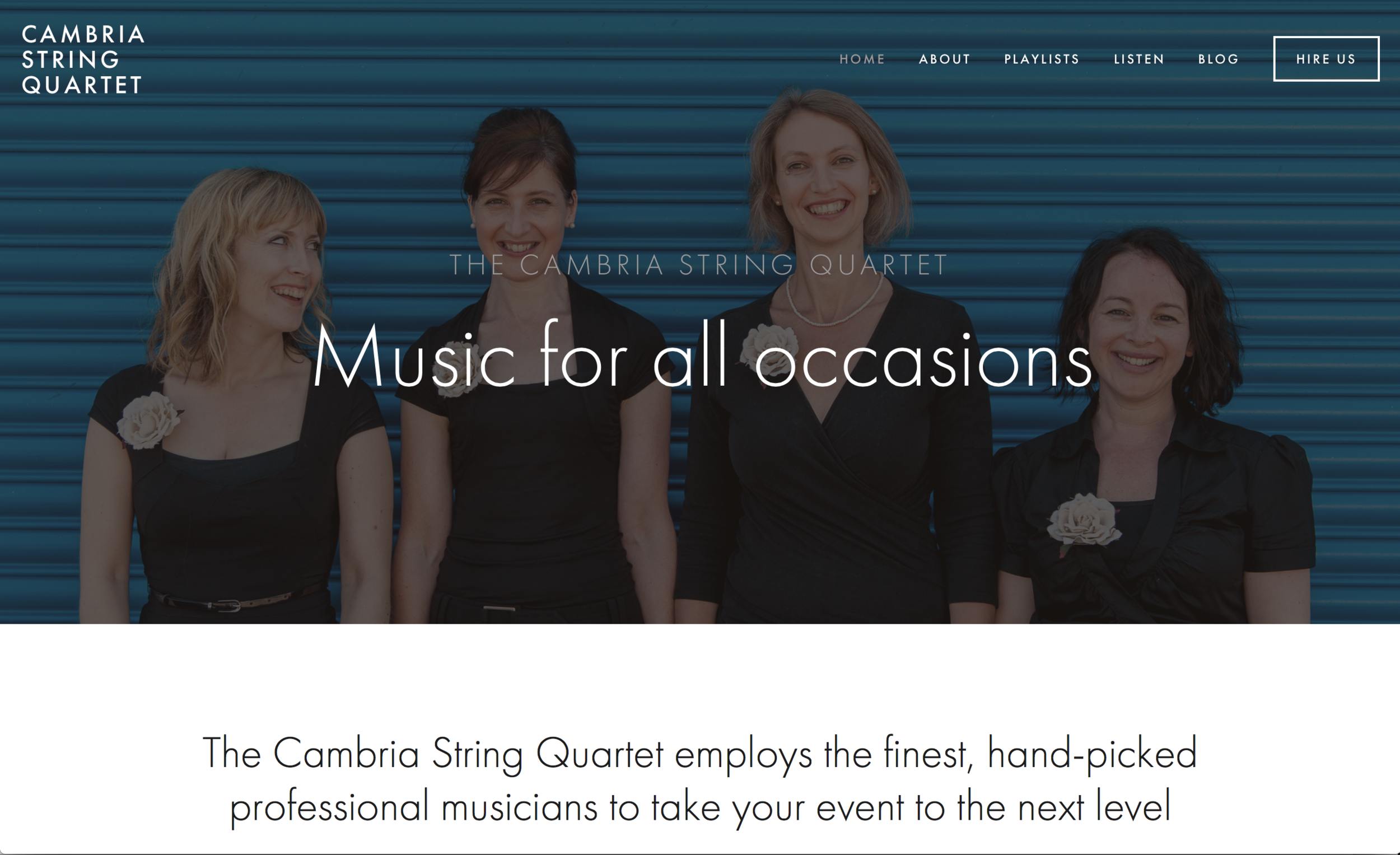 Cambria String Quartet new website