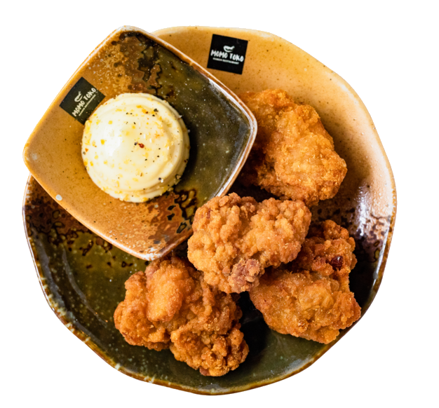 Chicken Karaage -5,50€ - Deep-Fried Chicken Bites & Lemon-Garlic Mayoo(G, M)