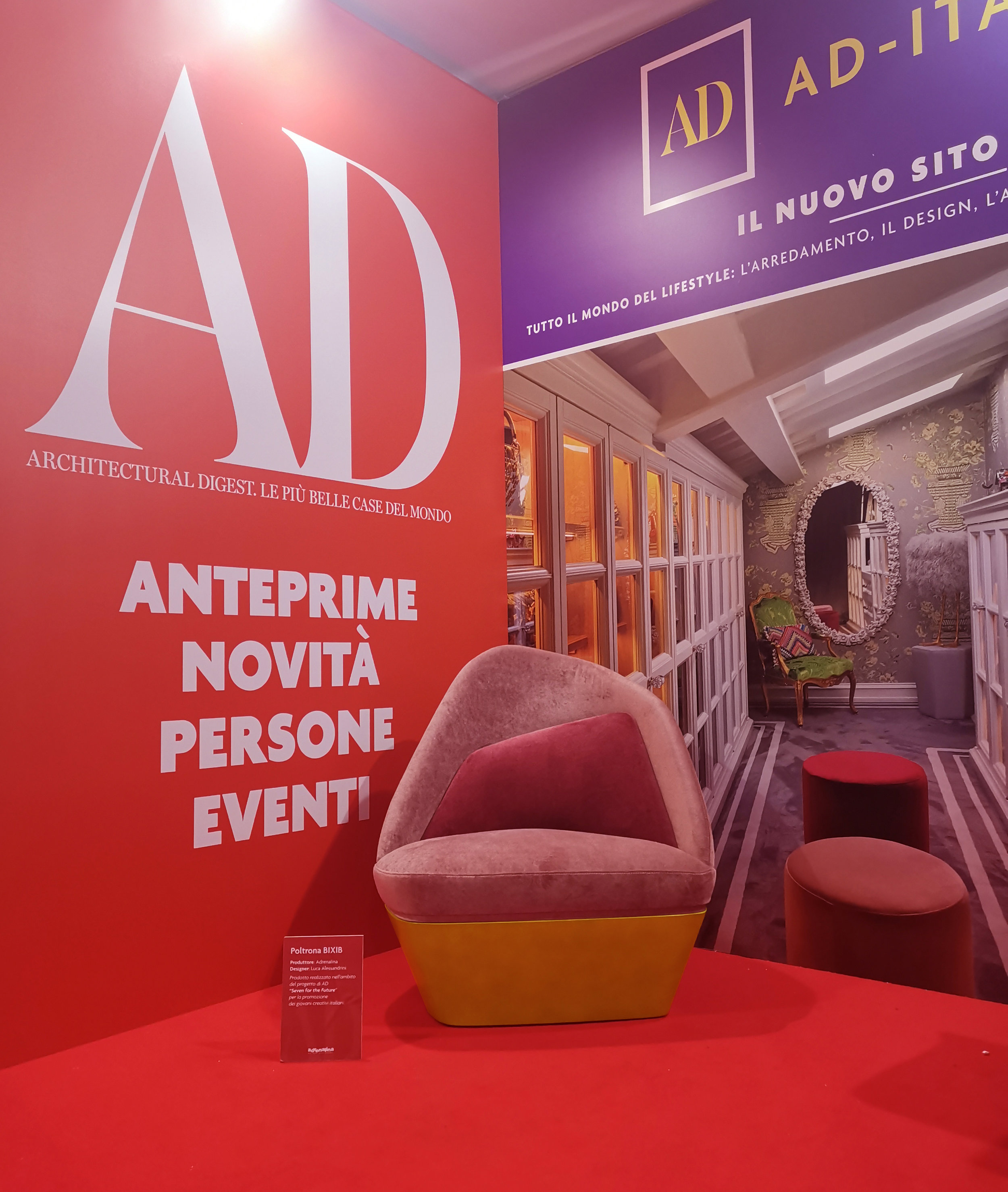 Exhibited by ARCHITECTURAL DIGEST during the Milan Design Week 2019 - as part of the project SEVEN FOR THE FUTURE