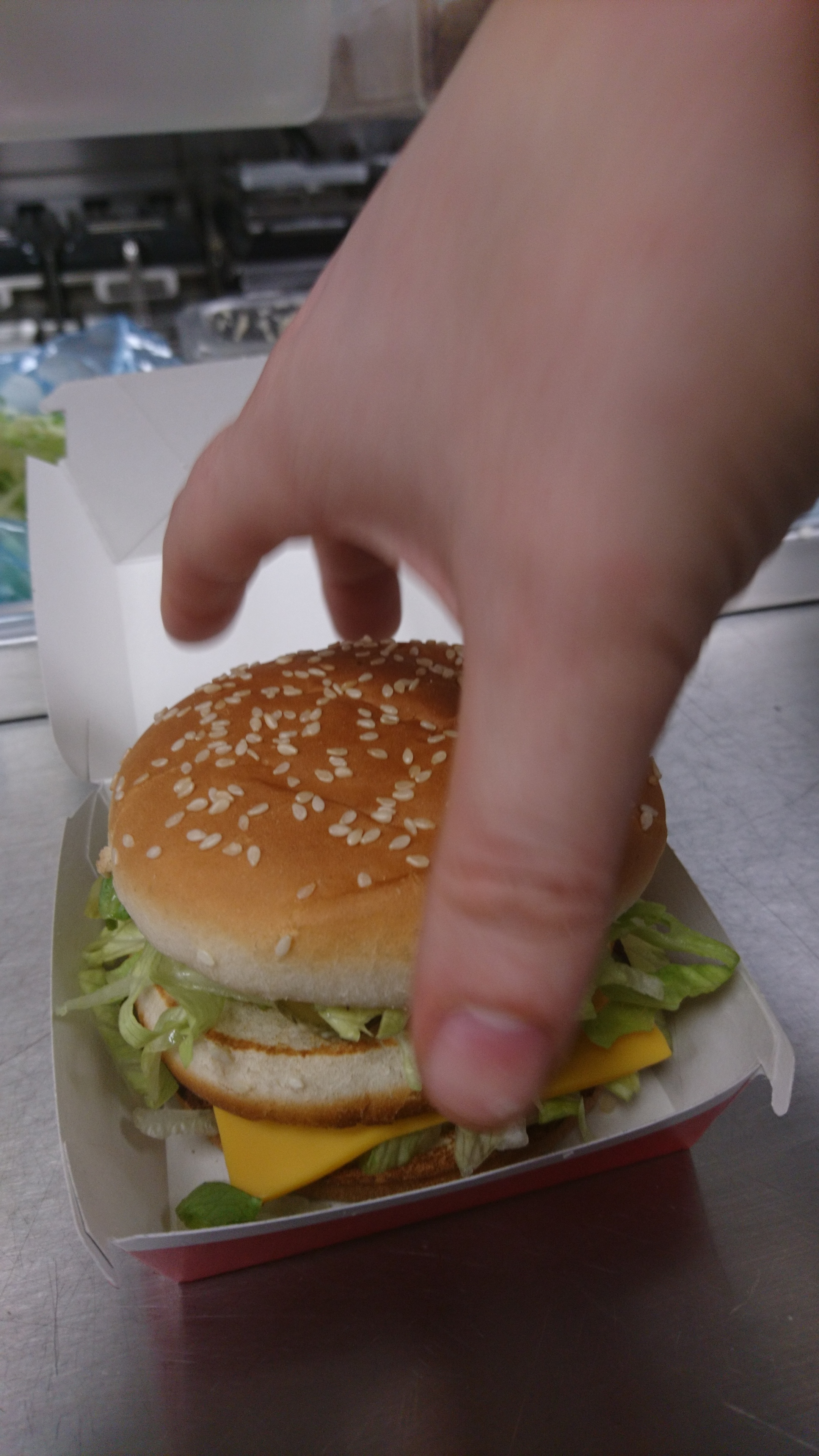 Looks like I made the world's smallest Big Mac! It really was full-size, honest!