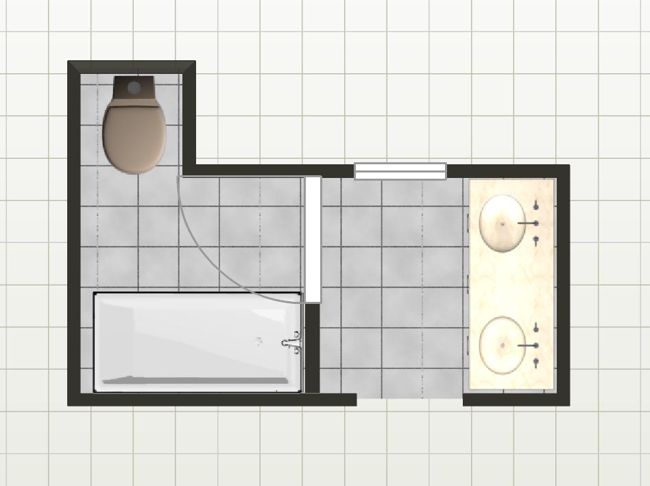 Current Bathroom Layout