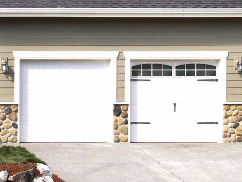 DIY Faux Carriage Style Garage Door Tutorial