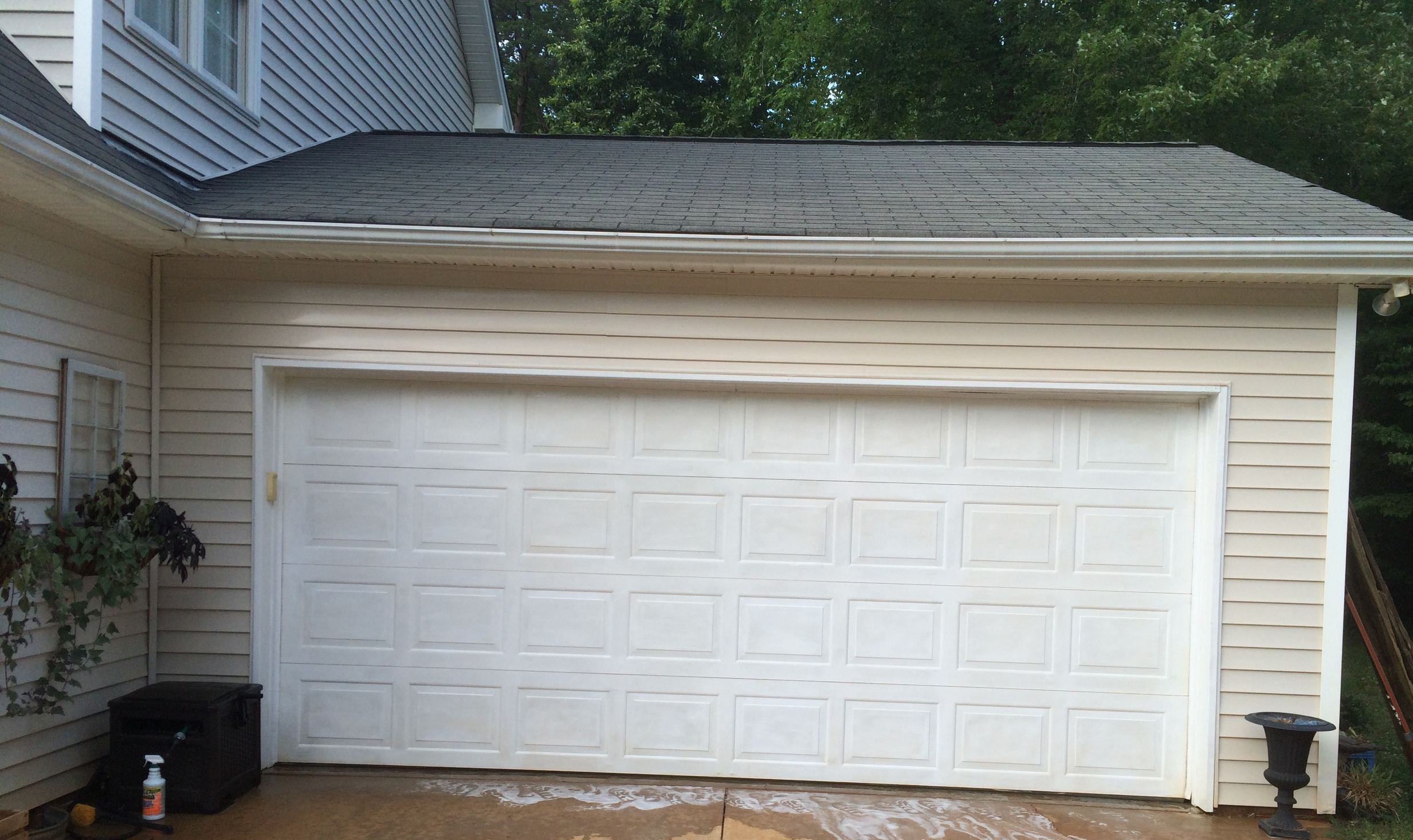 Faux Carriage Style Garage Doors- Before