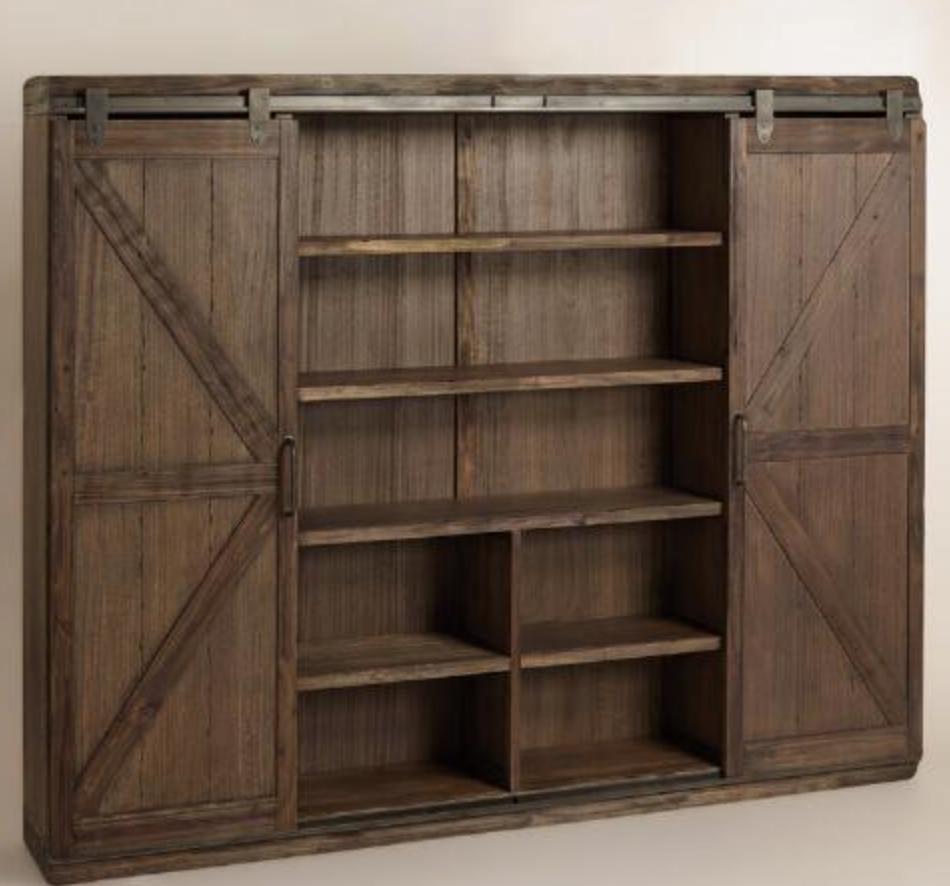 World Market Barn Door Bookcase for Office Inspiration