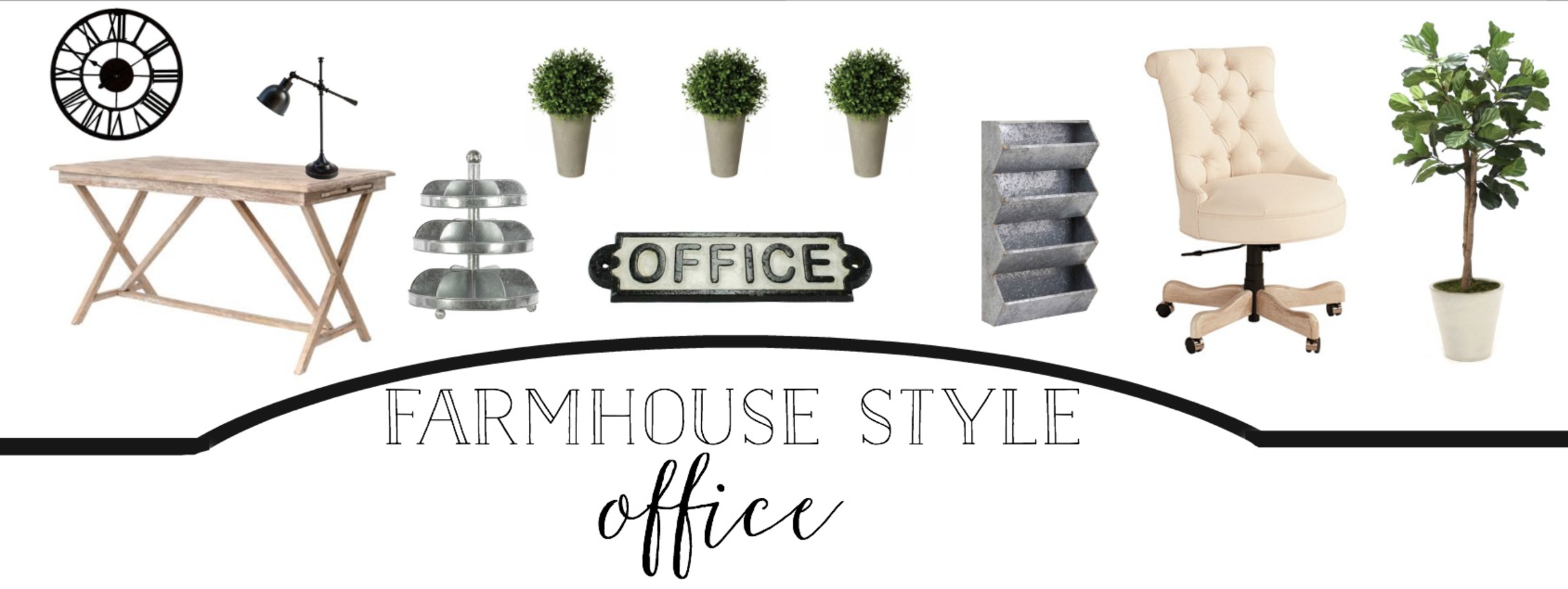 Farmhouse Style Office- Plum Pretty Decor and Design