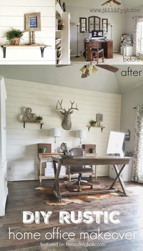 Rustic Home Office Makeover