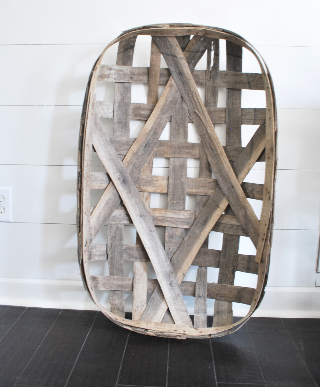 Farmhouse Decor with Oblong Tobacco Basket