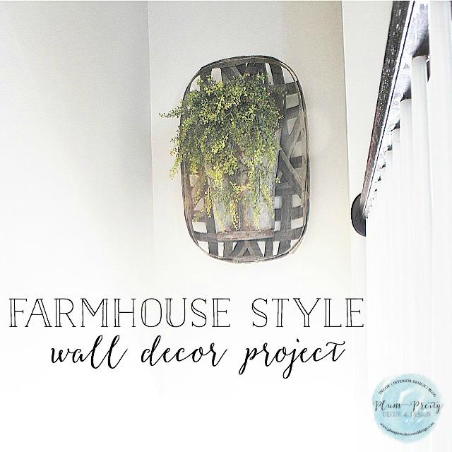 Farmhouse Style Staircase Decor Design