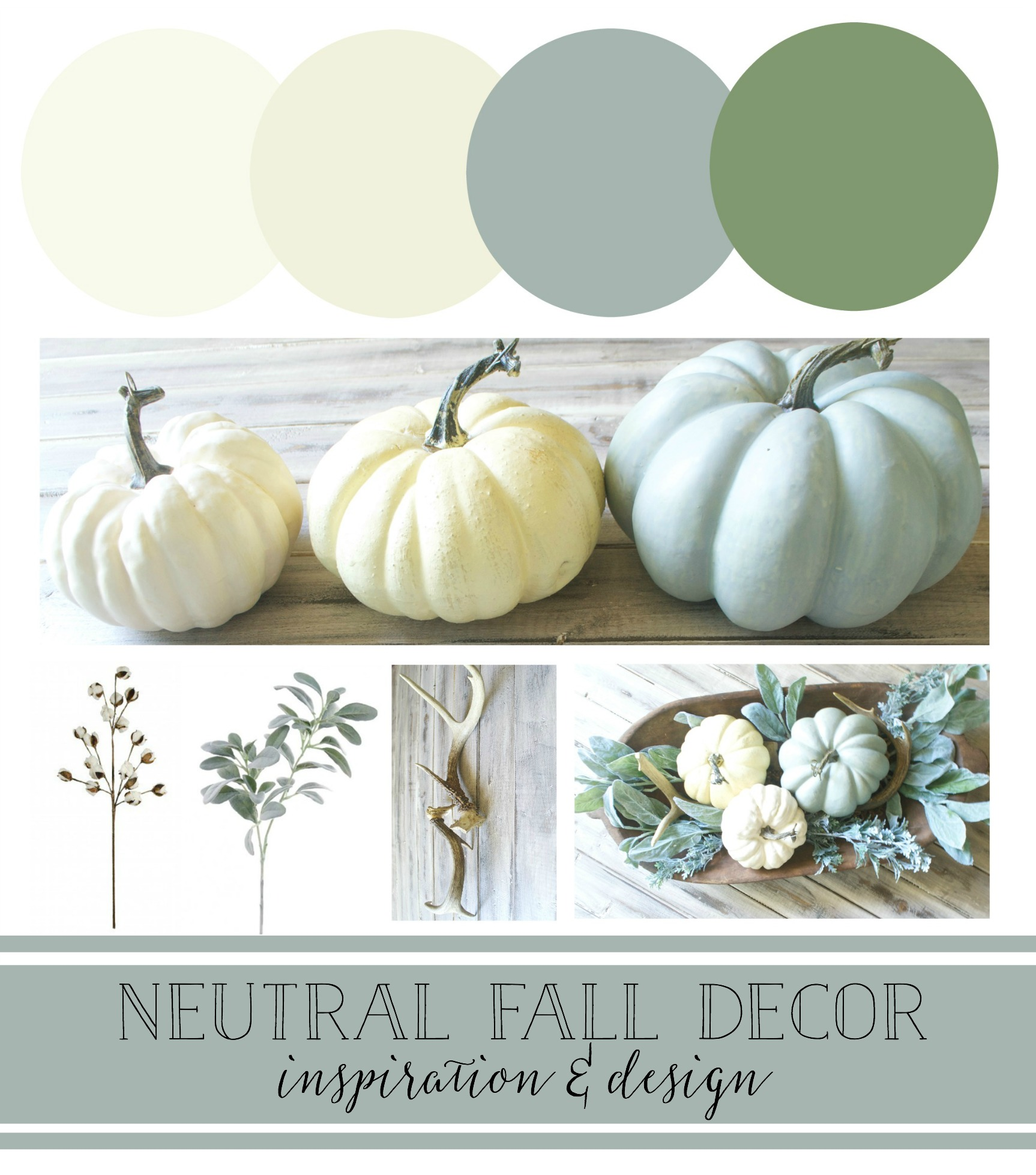 Neutral Fall Decor Inspiration and Design- Kayla Miller of Plum Pretty Decor and Design Shares Her Fall Style Board