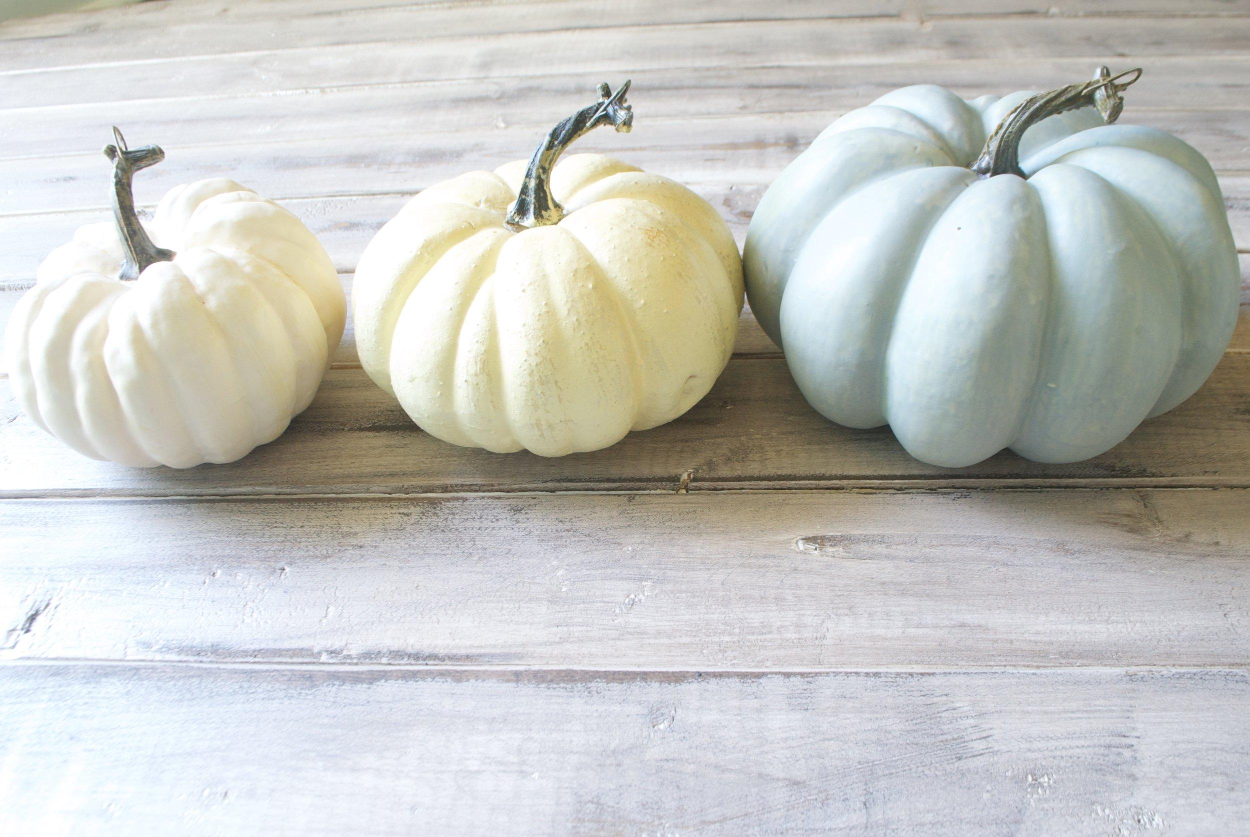 Neutal Fall Decor- Neutral Pumpkins