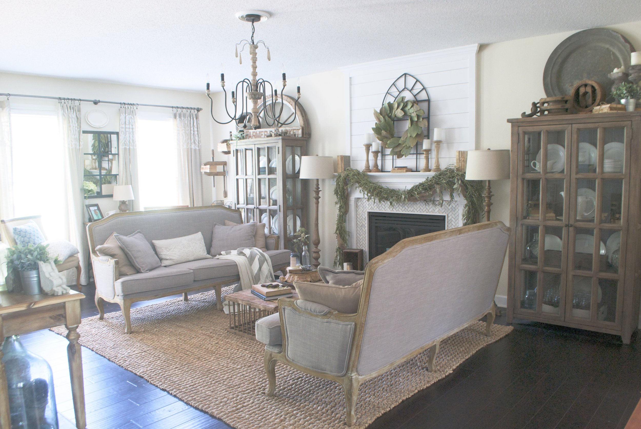 French Farmhouse Style Living Room- Plum Pretty Decor and Design