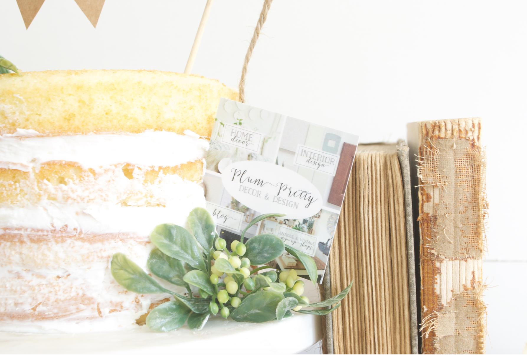 Plum Pretty Decor and Design Birthday Cake