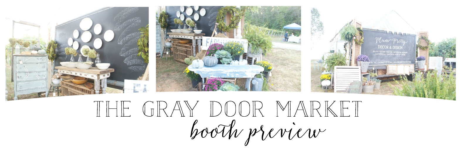 The Gray Door Market Pop Up- Plum Pretty Decor and Design Booth Preview