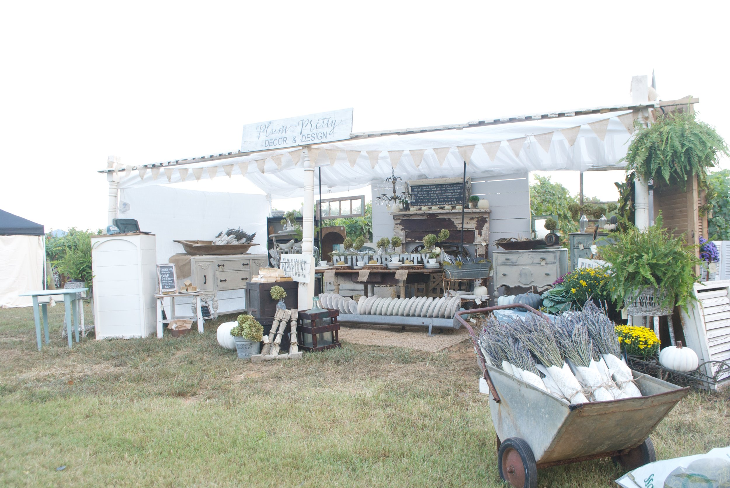 The Gray Door Market Pop Up 2016- Plum Pretty Decor and Design Booth Front View